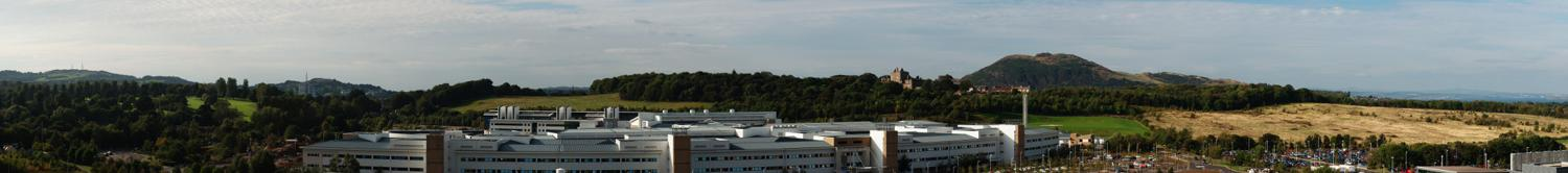 Panorama View from the Roof of the Bioquarter, Little France, Edinburgh