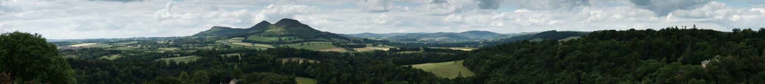 Scott's View and the Eildon Hills Panorama, Borders